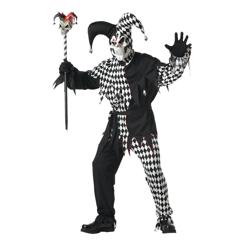 den-elake-jycklaren-svartvit-maskeraddrakt-1